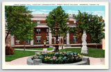 Sherman~North Texas College~Kidd-Key Conservatory~Fountain~Statue~1920s PC