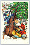 Russian Christmas~Decorated Tree~Girl on Bass Fiddle~Santa Plays Saxophone~1989