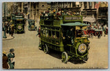 New York City~5th Ave~2 Mercedes Double Deck Omnibuses~Off To Riverside Dr~1914