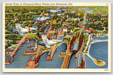 Pensacola Florida~US Navy WWII Planes in Flight Over City~1940s Linen Postcard