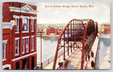 Grand Rapids Wisconsin~Post Office @ End of Grand Avenue Bridge~Horse Wagon~1908
