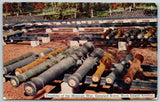 Rock Island Arsenal~Cannons, Gunyard Trophies of the Mexican War~1911 Postcard
