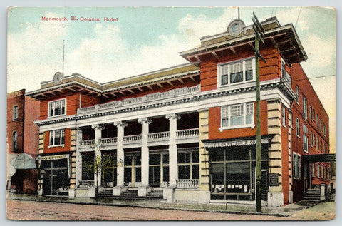 Monmouth IL~Colonial Hotel~EI Dains & Son Real Estate~Marks & O'Conner~1911 PCK
