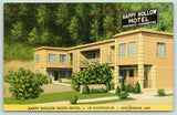 Hot Springs AR~Quoins on Corners~Happy Hollow Motel Apartments~Map~Linen 1940s