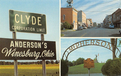 Clyde OH~City Limits~Andersons~Maj Gen McPherson Cemetery~All-State Ins~Main St