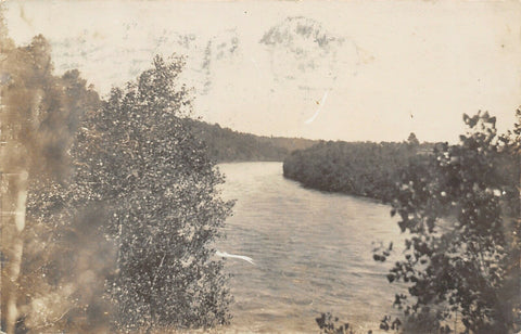 Mankato MN~View Along Minnesota River~Kristina Filo to Anna Garberg~1909 RPPC