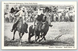 Fort Worth TX~Stryker's Rodeo Photogloss~McCrorey Bulldogging~Booth Hazing 1945