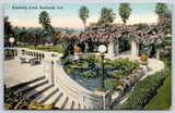 Redlands CA~Kimberly Crest Mansion Gardens~Pergola~Water Lily Pad Pond~c1910