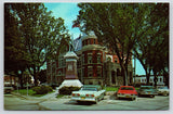 Monroe Wisconsin~Green County Court House~Civil War Soldiers Monument~1950s Cars