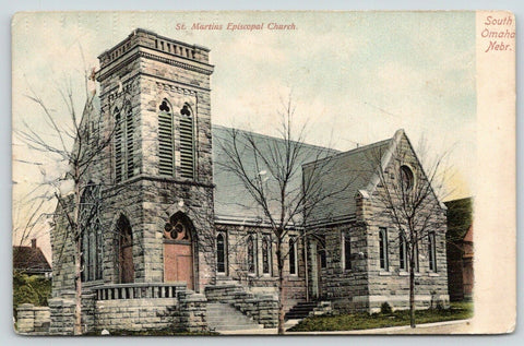 South Omaha Nebraska~St Martins Episcopal Church~Stained Glass Windows~c1905