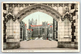 City of New York College~Gate Close Up~NY High Bridge 1911 Cancel~Detroit Pub Co