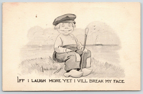 Bernhardt Wall Comic~If I Laugh More Yet I Will Break My Face~Dutch Boy~1912 PC