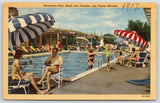 Las Vegas Nevada~Hotel Last Frontier Swimming Pool~Bathing Beauties~1950 Linen