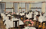 Waukesha WI~Pink Carnation Centerpieces~Moor Baths Dining Room~c1910 Postcard PC