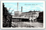 Menasha Wisconsin~Bascule Bridge by John Strange Paper Mill~Tower~1936 Blue Sky