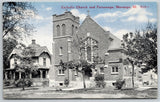 Marengo IL~Roman Catholic Church~Parsonage w/ Barge Board~8028-r CR Childs~c1910