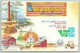 Vermont 1976 Bicentennial~Presidents Coolidge & Arthur~Lodge Cabin~Farm~Artist