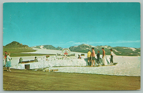 Beartooth Hwy Montana~Top of the World Buffet~Yellowstone Park~Snow Banks~1960s