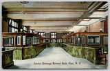 Olean New York~Marble Counter Teller Cages~Exchange National Bank c19110