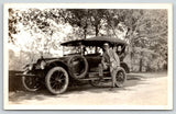 Real Photo Postcard~Man Steps on Running Board~Vintage Auto LP# 660~c1916 RPPC