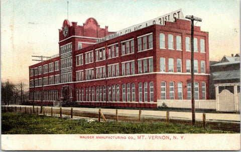 Mt Vernon New York~Mauser Mfg Co~Silver Flatware Factory~5th Ave @ 31st St~1908