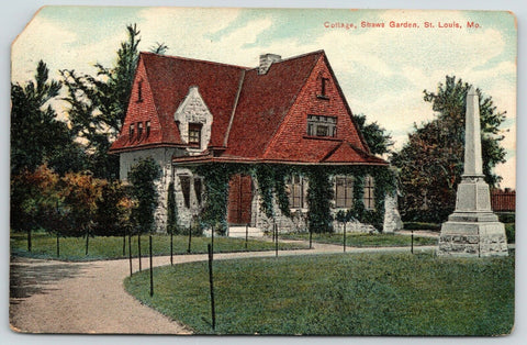 St Louis MO~Shaw's Garden Cottage~Mausoleum Groundskeeper's Home~Monument~1910