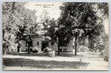 Harvard Illinois~Higgins Library~CR Childs B&W Postcard #6901-nr