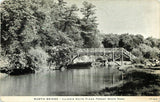 White Pines Forest State Park Illinois~Rustic Bridge~1939 B&W CR Childs Postcard