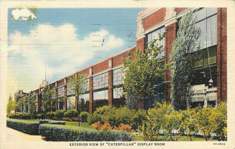Peoria Illinois~Exterior View of the Caterpillar Factory Display Room 1938