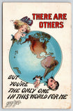 Carmichael~Only One in World for Me~Lady & Gent Break Out Globe~1911 Postcard