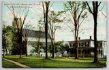 Watertown Connecticut~Christ's Church & Rectory~Spring Trees Dot Lawn~c1910 PC
