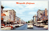 Marysville CA~Hwy 99~Brunswick~Billiards~Orchard Club~1950s Cars~Station Wagon