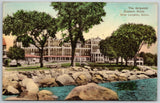 New London Connecticut~Eastern Point~Griswold Waterfront Hotel~1936 Handcolored