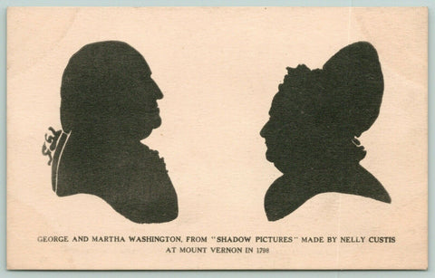 Patriotic~George Martha Washington 1798 Nelly Custis Shadow Pictures~Silhouettes