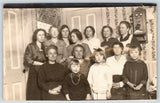 Grundy Center Iowa~13 Women of the Family~Vintage Wall Telephone~1916 RPPC