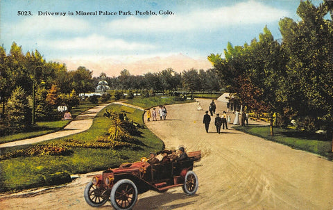 Pueblo Colorado~Mineral Palace Park~Vintage Car Tours Driveway~Dirt Road~1914 PC
