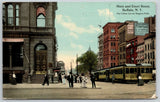 Buffalo NY~Trolley Race~American Bank~Quaker Oats Billboard~Park Hotel 1912