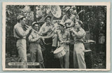 WWII MIlitary~The Bestest Band What Am~Soldier Play on Jeep~Sousaphone~1940s B&W