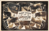 Langdon North Dakota~Shady Streets w/Metal Railings~Art Nouveau~RPPC 1910