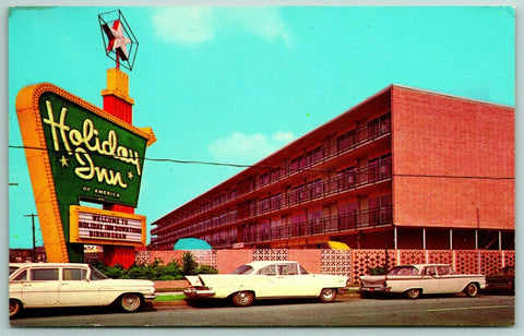 Birmingham Alabama~White Station Wagon~Nice 1950s Cars~Holiday Inn~Welcome Sign