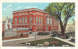 Waterville Maine~Bob Ott @ City Opera House~Park Square Lunch~City Hall 1930 PC