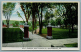 Williamsport PA Little Girl w/Bro in Stroller~Entrance Gate to Way's Garden 1922