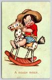 Katharine Gassaway~A Rough Rider~Little Boy on Appaloosa Rocking Horse~TUCK