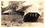 Porter to Parsonsfield Maine~Covered Bridge Close Up~1920s Real Photo Postcard