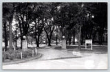 Cresco Iowa~Kessel Park Gate~Slide~Drinking Fountain~Speed Limit 10 MPH~'50 RPPC