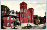 Galena Illinois~St Michael's Church & Parsonage on Bench Street~c1910 Postcard