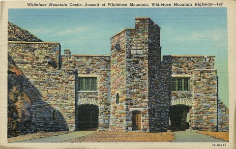 Wilmington NY Closeup~Stone Construction Whiteface Mountain Castle~1937 Postcard
