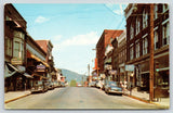 Bedford PA~Lincoln Highway US 30~Enna Jettick Shoes~Coffee Shop~1950s Cars