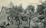 Wilmington DE~Shade Trees, Sign @ First Swedish Baptist Church~B&W Postcard