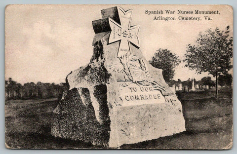 Washington DC~Arlington Cemetery~Spanish War Nurse Monument~Comrades~c1910